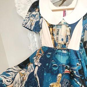 STAR WARS R2D2 Disney Peter Pan Collar Dress
